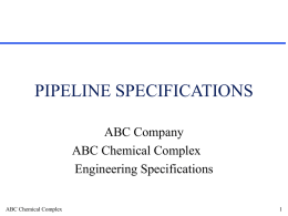 Pipeline Specifications