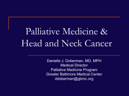 Palliative Medicine and the Hospitalized Adult