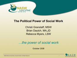 Political Social Work Defined - National Association of Social Workers