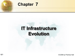 Management Information Systems Chapter 6 IT Infrastructure and
