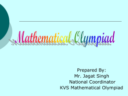 Mathematics Olympiad Programme in India