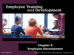 Chapter 9: Employee Development