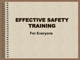 Effective Safety Training