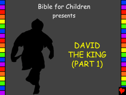 1 PPT David the King Part 1 English PP