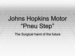 "Johns Hopkins Motor ""Pneu Step"""