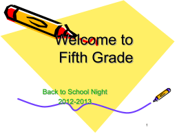 Back to School Powerpoint - South Brunswick School District