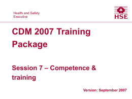 Session 7 - Competence and training