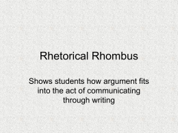 Rhetorical Rhombus