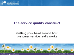 The service quality construct