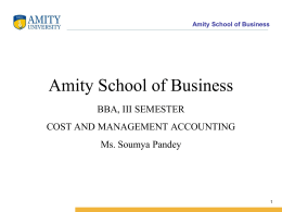 Amity School of Business