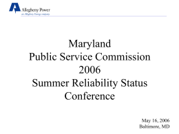 5-16-06 Report - Maryland Public Service Commission