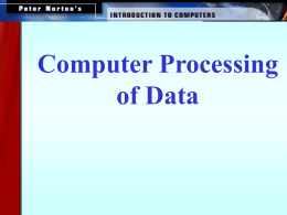How Computer Process Data.