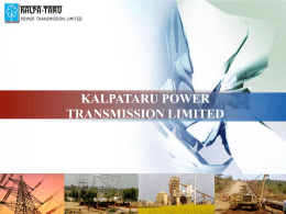 PowerPoint Template - Kalpataru Power Tranmission Ltd.