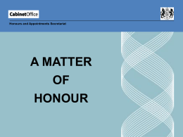 A Matter of Honour - Rutland County Council