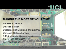 Optical Fibre - Linear Effects - UCL Department of Electronic and