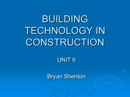 BUILDING TECHNOLOGY IN CONSTRUCTION