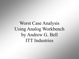 2000 Worst Case Analysis Using Analog Workbench
