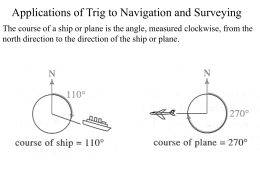 Applications of Trig to Navigation and Surveying