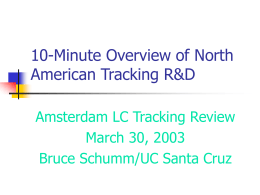 North American Tracking I