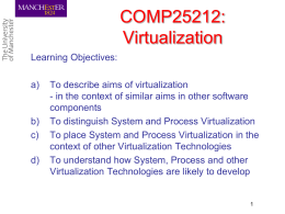 System and Process Virtualization