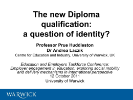 The new diploma qualification: A question of identity? – presentation