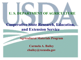 TITLE IX ENERGY Section 9008. Biomass Research and