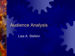 Audience Analysis - Global Communication Online