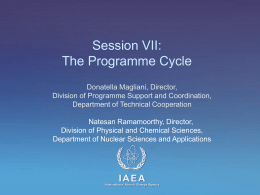 The Programme Cycle - International Atomic Energy Agency