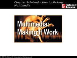 Introduction to Making Multimedia