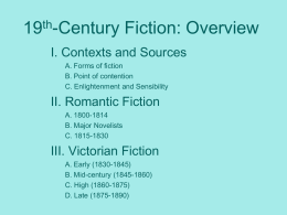 19th-Century Fiction: Overview