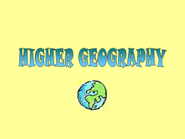 higher geog.