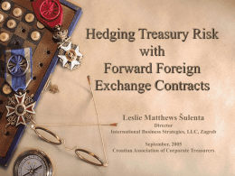 Accounting for Forward Foreign Exchange Contracts