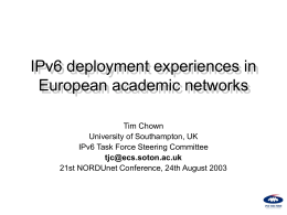 presentation - NORDUnet Networking Conferences
