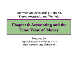Chapter 6: Time Value of Money Concepts