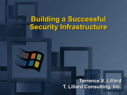Security Infrastructure Presentation