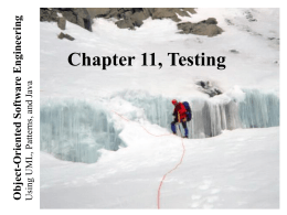 Lecture 1 for Chapter 9, Testing