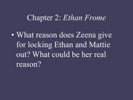 Chapter 1: Ethan Frome - Mira Costa High School