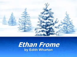 Ethan Frome - Juan Diego Academy