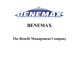BENEMAX The Benefit Management Company