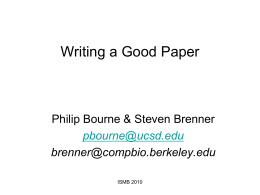 How to write my paper and have it published in a computational