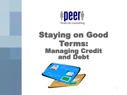 Staying On Good Terms: Credit and Debt PowerPoint