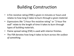NFPA 220, Standard Types of Building Construction