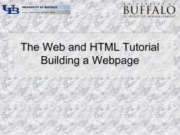 HTML - Personal websites at UB