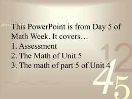 Math I Unit 6 – Assessment