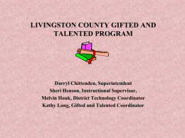 Livingston County Gifted and Talented Program