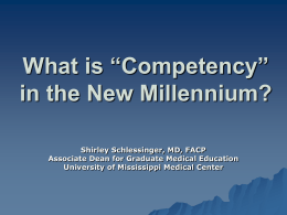 "What is ""Competency"" in the New Millennium?"