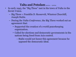Yalta and Potsdam Section 1 – 798-803