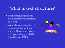 PowerPoint for text structure Notes and practice link