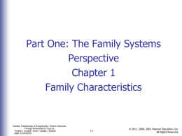 Family Characteristics - Southeast Online Degree Programs