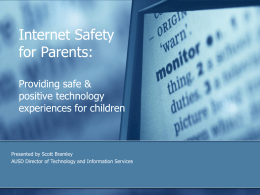 Internet Safety for Parents.pps - Arcadia Unified School District